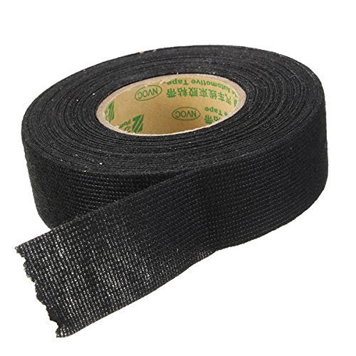 Black 25mmx10m Adhesive Cloth Tape For Cable Harness Wiring Loom Car Wire Harness Tape
