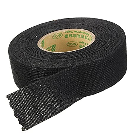 Amazon.com: Black 25mmx10m Adhesive Cloth Tape For Cable ... on