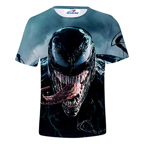 Oxking Kids Child Girls and Boys Unisex Family Comedy Movie Summer 3D Graphic Print T-Shirt Venom dyE S