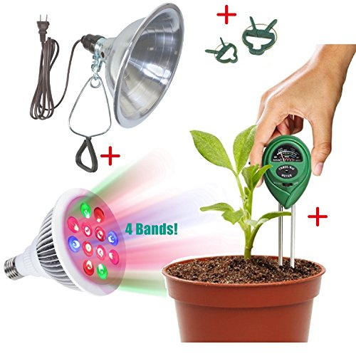 indoor-garden-kit-led-grow-light-12w-with-4-bands-for-extra-boost-growing-clamp-reflector-ph-moistur
