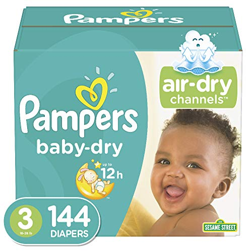 Diapers Size 3 (144 Count) – Pampers Baby Dry Disposable Baby Diapers, Giant Pack