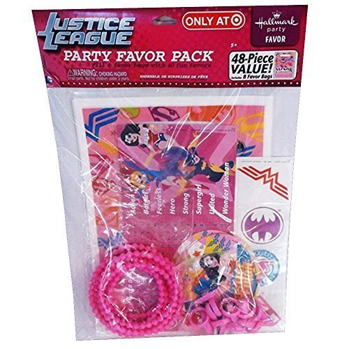 Justice League Girls 48pc Favor Kit