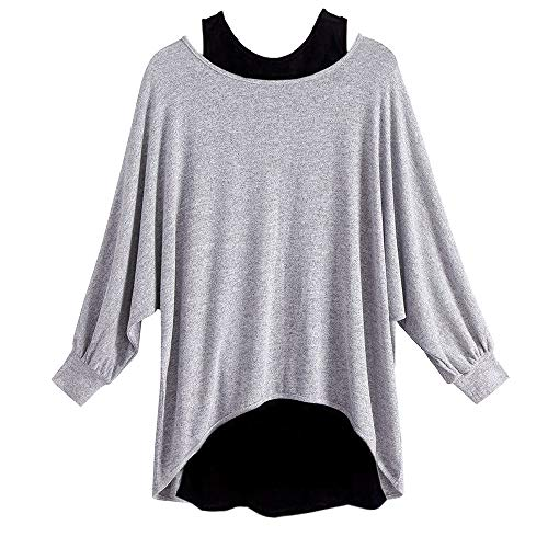 YANG-YI Clearance Sale Women's Fashion Long Sleeve Two Pieces Vest+T Shirt Set Casual Tops Blouse by YANG-YI (Image #4)