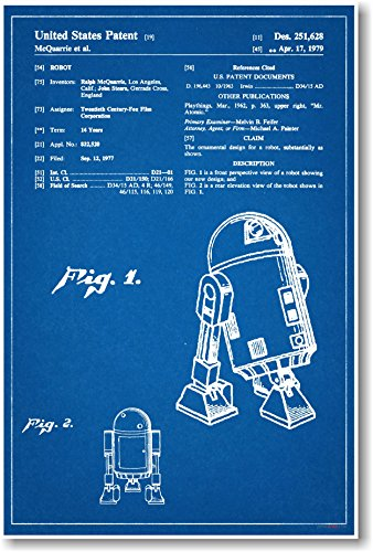 R2D2 Patent - NEW Famous Invention Patent Poster