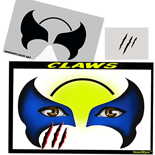 (Face Painting Stencil - StencilEyes Claws)