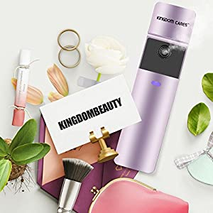 KINGDOMBEAUTY Steamer Handy Mister Facial Mist Spray Face Sprayer Rechargeable Sliding Facial Mini Steamer Moisture Mist Sprayer Best Dry Oil Skin Treatment Moisturizing Purple