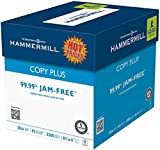 Hammermill Copy Plus Multipurpose Laser, Inkjet Printer & Fax Machine Paper, 8.5'' x 11'' Letter Size, 92 Bright White, ColorLok, 20 lb, 99.99% Jam Free, Case Of 5 Reams (105350)