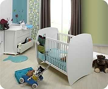 mobikids – Mini Baby-Schlafzimmer MEDEA weiß Matratze inklusive ...
