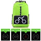 Cheap Cycling Backpack with Safety LED Turn Signal Light, Wireless Remote Control, VUP Ultra Light Weight Foldable Daypack Bike Bag, Super Breathable, Water Resistant for Biking, Camping, Hiking, Travel