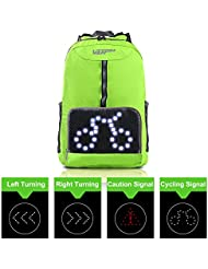 Cycling Backpack with Safety LED Turn Signal Light, Wireless Remote Control, VUP Ultra Light Weight Foldable Breathable...