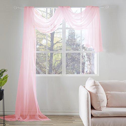 KEQIAOSUOCAI Sheer Window Scarf-Valance,52