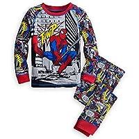 Disney Store Spiderman Boy 2 PC Long Sleeve Tight Fit Pajama Set Size 6