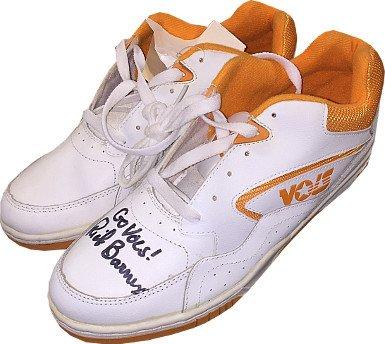 RDB Holdings & Consulting CTBL-020188 Rick Barnes Signed Tennessee Volunteers Pair White & Orange Basketball Shoes Go Vols from RDB Holdings & Consulting
