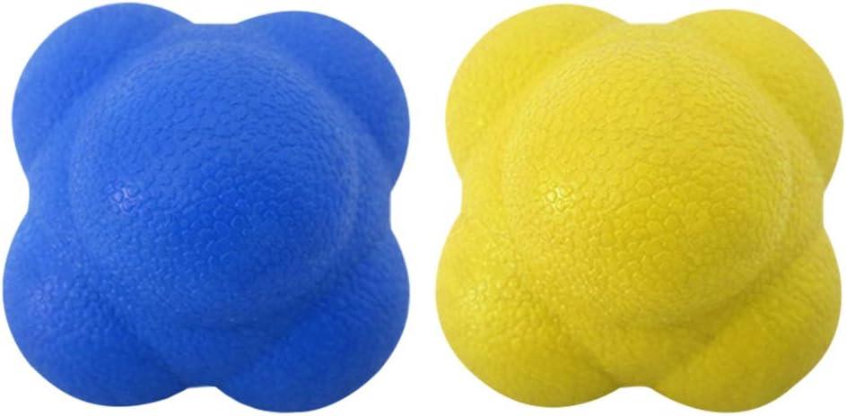 LIOOBO Bola Hexagonal 2 Piezas Equipo Especial de Velocidad de Entrenamiento /ágil Bola de Reflejo Bola de reacci/ón Bola de Rebote
