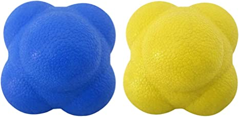 ROSENICE 58mm Reaction Ball for Developing Exceptional Hand-Eye Coordination Yellow