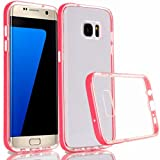 Creazy® Crystal Back TPU + PC Frame Case Cover For Samsung Galaxy S7 edge (Pink)