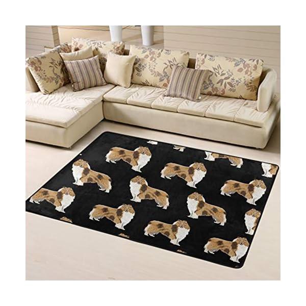 NiYoung Area Rugs for Boys Girls Room Bedroom Non-Slip Kids Carpet Baby Nursery Decor Modern Rug, Rough Collie Dog 2