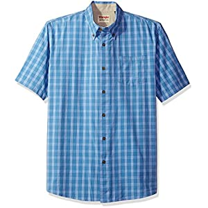 Wrangler Authentics Men's Short Sleeve Plaid Woven Shirt 24