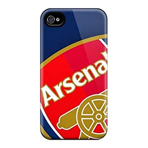 Protector Hard Cell-phone Case For Apple Iphone 4/4s (KDj6885JkQC) Provide Private Custom High-definition Arsenal Crest Pattern