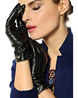 Elma Womens Touchscreen Texting Winter Driving Nappa Leather Gloves Pure Cashmere Warm Lining
