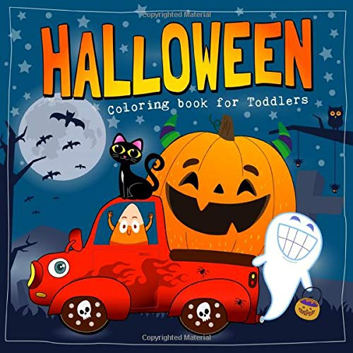 Halloween Coloring Book For Toddlers Cute And Easy