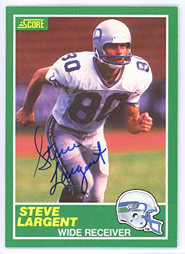 Steve Largent Hand Signed (Steve Largent Signed Auto 1989 Score Card #225 Seattle Seahawks - Certified Authentic)