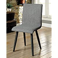 Furniture of America Vilhelm I Gray Side Chair Set Of 2