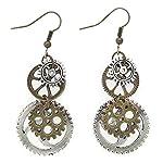 Hi-Unique UINKE Vintage Bronze Steampunk Cogwheel Wristwatch Gear Earrings Goth Punk Dangle Earrings Jewerly 6