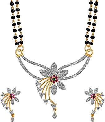 Buy cardinal american diamond latest design mangalsutra pendant cardinal american diamond latest design mangalsutra pendant necklace set latest design with earring for women aloadofball Gallery