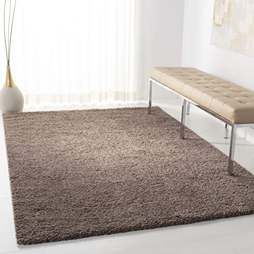 Safavieh AUG900R-4 August Shag Collection AUG900R Taupe (4' x 6') Area - Rug Rectangle Taupe