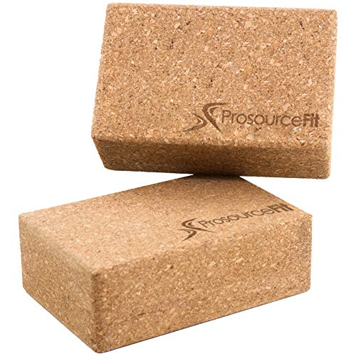 Prosource Fit Natural Cork Yoga Blocks Set of 2 for Support, Balance, and Flexibility  4