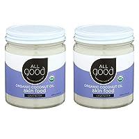 All Good Organic Coconut Oil Skin Food w/Lavender - Natural Moisturizing Skin Care...