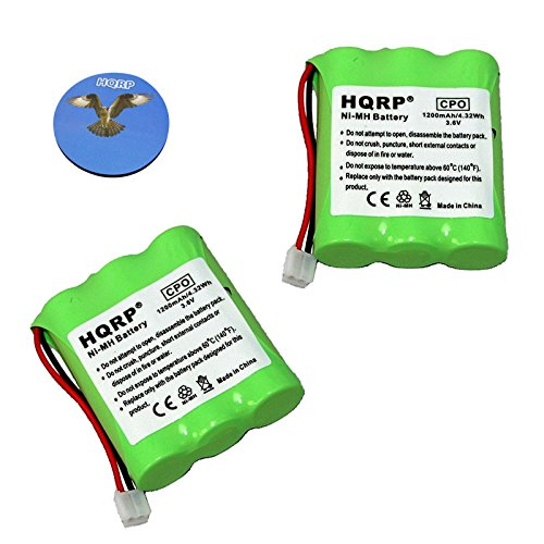 HQRP Phone Battery 2-Pack for General Electric GE 27923 27928 27933 27938 27944 27957 27958 27996 27998 5-2549 TC25861 25836 25836EE1 Cordless Telephone plus Coaster