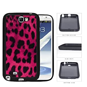 Exotic Leopard Print Series Rubber Silicone TPU Cell Phone Case Cover Samsung Galaxy Note 2 II N7100 (Pink)