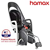 Baby : Hamax Caress Rear Child Bike Seat (Grey/White, Frame Mount)