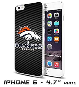 NFL Denver Broncos , Cool iPhone 6 - 4.7 Inch Smartphone Case Cover Collector iphone TPU Rubber Case White [By PhoneAholic]