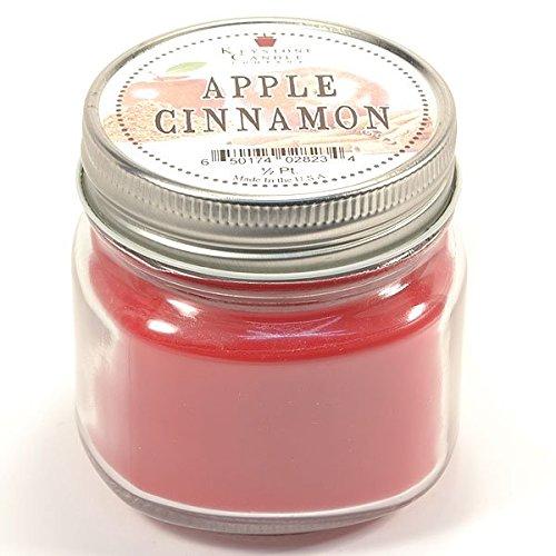 Apple Cinnamon Votive Candle Tin - Half Pint Mason Jar Candle Apple Cinnamon