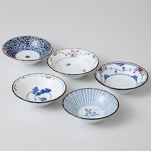 Saikai Pottery Traditional Japanese Nishiki Patterns Porcelain Plates (5 Plates Set) 31988 from Japan