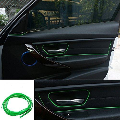 ATMOMO 5M Flexible Trim for DIY Automobile Car Interior Exterior Moulding Trim Decorative Line Strip (Green)