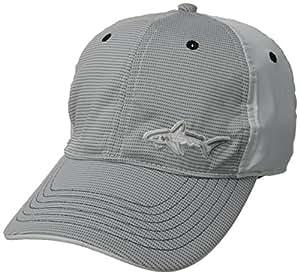 Greg Norman Men's Shark Pattern Performance Cap, White/White, One Size