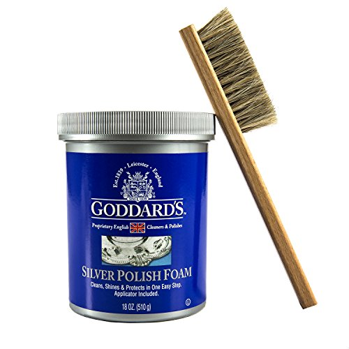 Polish Bundle – Northern Lab Goddard's 18-Ounce Long Shine Silver Foam with Cape Cod Detail Horsehair Brush ()
