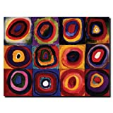 This ready to hang, gallery-wrapped art piece features an abstract composition. Wassily Kandinsky was an influential Russian painter and art theorist. He is credited with painting his first purpley abstract works.; Giclee (jee-clay) is an advanced pr...