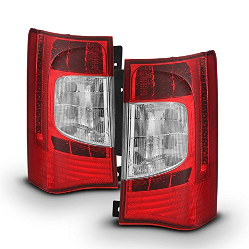 (For 2011 2012 2013 2014 2015 2016 Chrysler Town & Country Red Left + Right Side LED Tail Lights Pair Set)