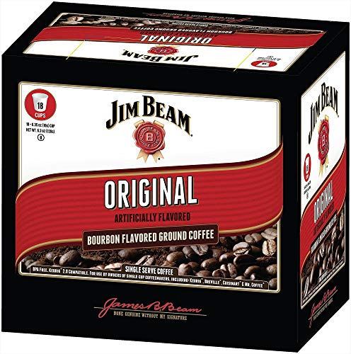 Jim Beam Original Bourbon Flavored Single Serve Coffee,, used for sale  Delivered anywhere in USA