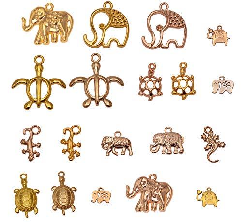 - Yansanido 100 Gram Assorted Animal Gold DIY Antique Charms Pendant Mixed Charms Pendants Necklace Bracelet Wedding DIY Craft Making Accessory (100g Animal Gold)