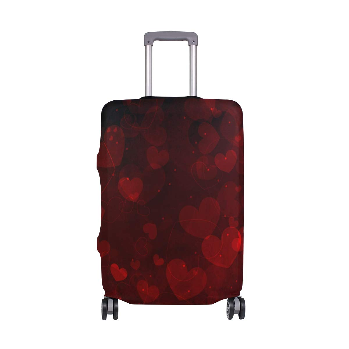 My Daily Hearts Valentine's Day Wedding Luggage Cover Fits 24-26 Inch Suitcase Spandex Travel Protector M