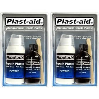 Abs Plastic Repair Kit >> 2 Pack Plast Aid Acrylic Pvc Abs Cpvc Plastic Repair Kit 2 X 6