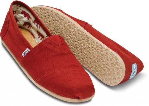 -  TOMS Men's Classic Canvas Slip-On, Red Plaid - 10.5 D(M) US