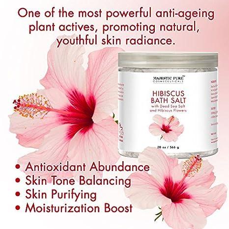 Buy Majestic Pure Hibiscus Flower Bath Salts Intense Moisture Boost