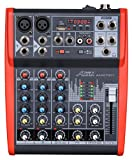 Audio2000'S AMX7311 Professional Four-Channel Audio Mixer with USB and DSP Processor
